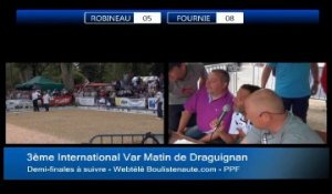 Demi-finales de l'International à pétanque de Draguignan - 2014
