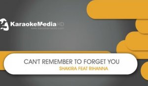 Can't Remember To Forget You - Shakira, Rihanna- KARAOKE HQ