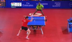 Tennis de table : Segun Toriola vs Ning Gao (41 échanges)