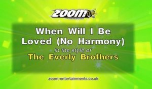 Zoom Karaoke - When Will I Be Loved (No Harmony) - The Everly Brothers