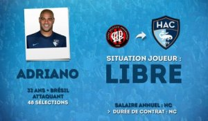 Officiel : Adriano s'engage au Havre !