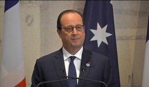 "Hollande: ""Thank you Australia"""