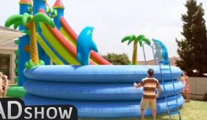 Dad buys GIANT POOL for his children