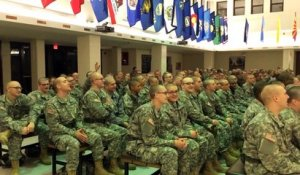 Fort Leonard Wood US Soldiers Trainees Sing Katy Perry - 2015 Super Bowl Half-Time Show