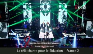 Le duo improbable Shy'm-Christophe Dechavanne pour le Sidaction