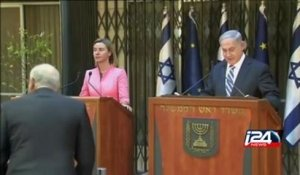 EU foreign policy chief Federica Mogherini in Israel