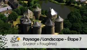Paysage du jour / Landscape of the day - Étape 7 (Livarot > Fougères) - Tour de France 2015