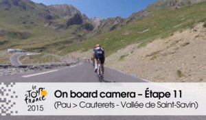 Caméra embarquée / On board camera - Étape 11 (Pau / Cauterets - Vallée de Saint-Savin) - Tour de France 2015