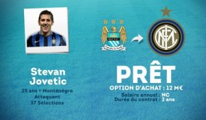 Officiel : Stevan Jovetic prêté à l'Inter Milan