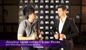Jinnyboy hangs out with Robin Thicke
