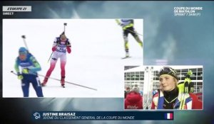 Biathlon - CM : La réaction de Justine Braisaz