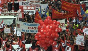 Loi travail: violents affrontements en marge des manifestations