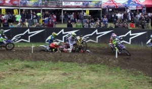 EMX125  Race 1 Highlights Round of Great Britain 2016