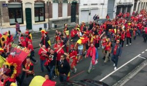 Euro 2016 : la fan walk des supporters belges