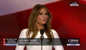 Melania la femme de Donald Trump copie le discours de Michelle Obama