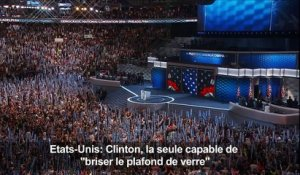 "Obama: Clinton la seule capable de ""briser le plafond de verre"""