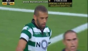 But de Slimani Vs Wolfsburg