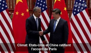 Climat: Etats-Unis et Chine ratifient l'accord de Paris