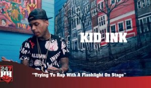 Kid Ink - Trying To Rap With A Flashlight On Stage (247HH Wild Tour Stories)