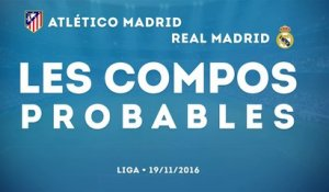 Atlético Madrid - Real Madrid : les compos probables