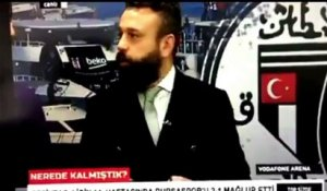 Explosion filmée en direct besiktas Turquie studio TV