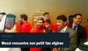 Messi rencontre son petit fan afghan à Doha