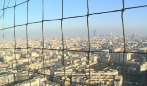 Paris: le pic de pollution vu du ciel
