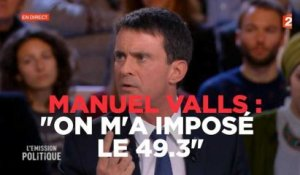 "Valls : ""On m'a imposé le 49.3"""