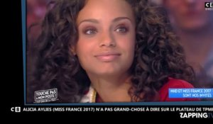 TPMP : Alicia Aylies (Miss France 2017) très mal à l'aise face à Cyril Hanouna
