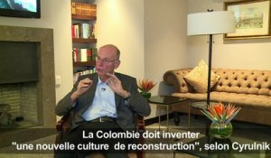 "Colombie: inventer ""une culture de reconstruction"", dit Cyrulnik"