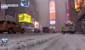 New York: quand la neige habille Times Square