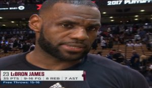 LeBron James Post Game Interview - PAL