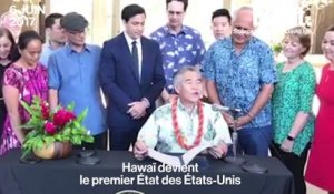 Hawaï signe les accords de Paris
