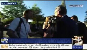 VIDEO - Richard Ferrand a voté dans son fief breton