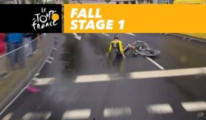 Groenewegen tombe - Étape 1 / Little crash for Groenewegen Stage 1 - Tour de France 2017