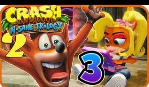 Crash Bandicoot N. Sane Trilogy Walkthrough Part 3 (PS4) Crash 2 - World 3
