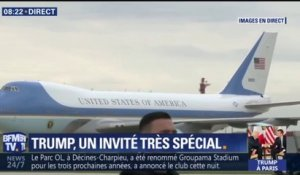 Air Force One vient d'atterrir à l'aéroport d'Orly
