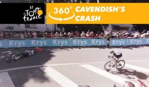 Cavendish's crash - 360° - Tour de France 2017