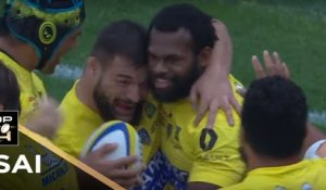 TOP 14 - Essai Alivereti RAKA (ASM) - Clermont - Racing 92 - J5 - Saison 2017/2018