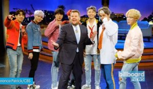 BTS Perform 'DNA' on 'The Late Late Show With James Corden' | Billboard News