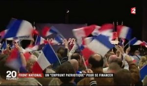 "Front national : un ""emprunt patriotique"" pour se financer"