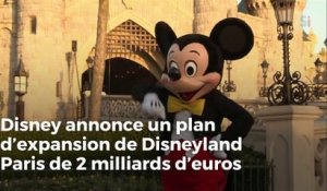 Disney annonce un plan d'expansion de Disneyland Paris