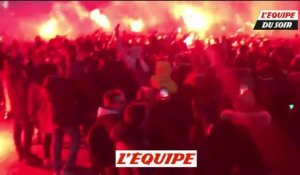 Chaude ambiance avant le match face au Real Madrid - Foot - C1 - PSG