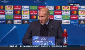 Late Football Club - La réaction de Zinédine Zidane après PSG - Real Madrid