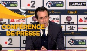 Conférence de presse Paris Saint-Germain - AS Monaco (3-0) : Unai EMERY (PARIS) - Leonardo JARDIM (ASM) - 2017/2018