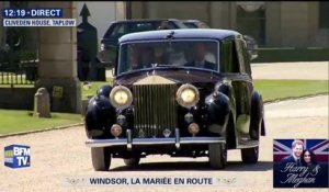 Meghan Markle en route pour la chapelle Saint-Georges de Windsor