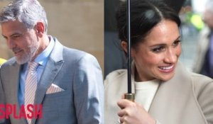 George Clooney danced with Meghan Markle at the royal wedding reception.