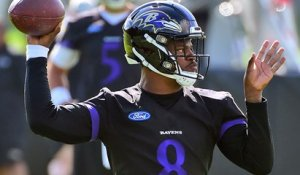 Lamar Jackson reacts to receiving majority of first-team reps at practice