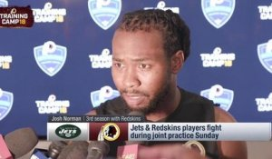 Josh Norman reacts to skirmish between Redskins, Jets