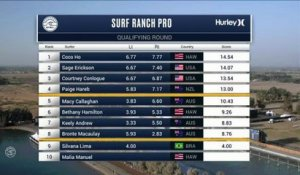 Adrénaline - Surf : Silvana Lima with a 6.43 Wave from Surf Ranch Pro, Women's Championship Tour - Qualifying Round